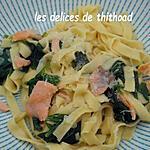recette one pot pasta saumon épinards