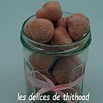 recette truffes au chocolat blanc et biscuits roses