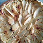 recette tarte pommes créme amande miel
