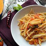 recette Pâtes potimarron et tomates