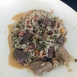 recette riz au cubes de porc et petit pois