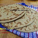 recette RAKHSSISS EL GAMH- GALETTES DE SEMOULE DE BLE DUR COMPLET NON RAFINE