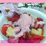 recette assiettes de fruits caramélisés