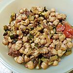 recette Poêlée de pois chiches, courgettes et chorizo