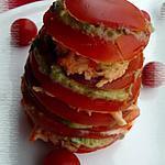 recette Millefeuille de tomate à l'avocat & au surimi