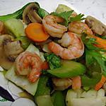 recette ~Sauté oriental de Bok choy et crevettes~