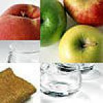 recette Verrine Pommes/Pêches caramlisées au mascarpone et crêpes dentelles