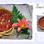 recette sauce tomate de base -  coulis de tomate