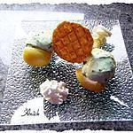 recette abricots en cabochon: glace menthe-pépites de chocolat