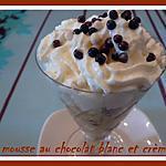 recette MOUSSE AU CHOCOLAT BLANC ET CREME