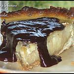 recette Tarte à la banane et son coulis de chocolat