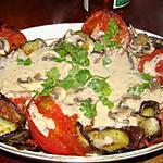 recette Filets de poisson à l'aubergine