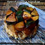 recette Tartare de courgettes et pousses de soja