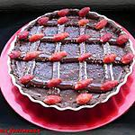 recette Tarte au chocolat & à la fraise