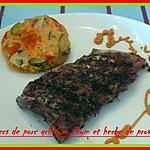 travers de porc grillé au thym et herbe provence