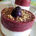 recette Entremets cerises-yaourt (dessert tout léger)