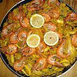 recette paella poulet et fruits de mer