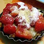 recette tartelette fraises amandes