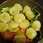 recette St Jacques marinées, sautées sur son lit de légumes(prépa 30mns)