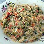 recette Salade de macédoine aux miettes de crabes