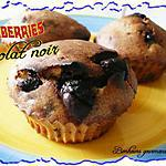recette Muffins cranberries et chocolat noir