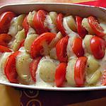recette Tian de tomate parmentière