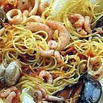 recette Spaghettis aux coquillages
