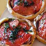 recette Tartelettes au chèvre frais et aux tomates confites
