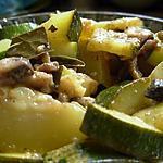 recette Courgettes et champignons à la Grec.
