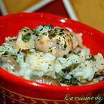 recette Risotto aux champignons et aux épinards