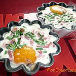 recette Oeufs cocotte aux épinards, lardons et crème fraîche (ww propoints)