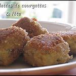 recette Boulettes de courgettes & feta