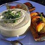 recette Velouté d'aubergines glacé à la féta et basilic