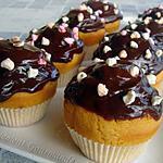 recette Cupcakes au beurre de cacahuètes nappés Nutella