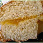 recette Brioche amandine au citron fourrée à la crème de calissons
