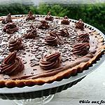recette Tarte au chocolat au lait & au caramel au beurre salé