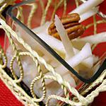 recette Mousse de roquefort sur gelée de Porto, effilée de poires et noix
