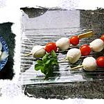 recette tomates bonbon -mozzarella bille- oignons doux ( tapas - dîner apéritif)