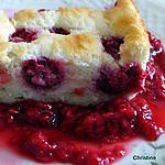 recette Gâteau nuage aux framboises et sa compotée de framboises