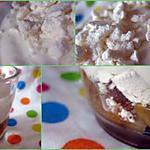 recette Fraicheur à la rhubarbe et aux meringues