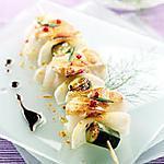 recette Brochette de lotte de Scott Serrato( recette minceur)