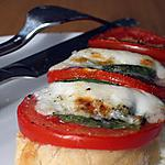 recette Tartines Italiennes (weight watchers propoints)