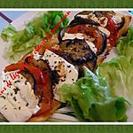 tians de légumes aux chévre et parmesan