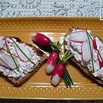 recette tartines au petit Billy et râpé de radis roses