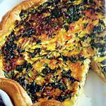 recette Tarte à la courgette et aux lardons