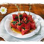 recette Tomates : coeurs de coeur de boeuf , menthe et sauce soja - TAPAS