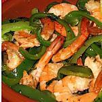 recette Crevettes à l'ail et poivron