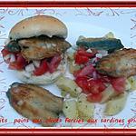 recette Petits pains aux olives farcies aux sardines grillées