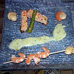 recette Terrine de saumon St Jacques au coulis d asperge!!