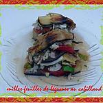 recette milles-feuilles de légumes au cabillaud